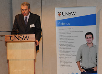 Chris Warren lecturing at the University of NSW