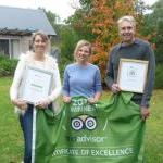 Certificate of Excellence and Green Leaders combined to make a powerful statement to guests